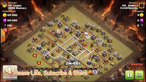 TH11 vs TH11 Queen Walk Hogs 3 Star