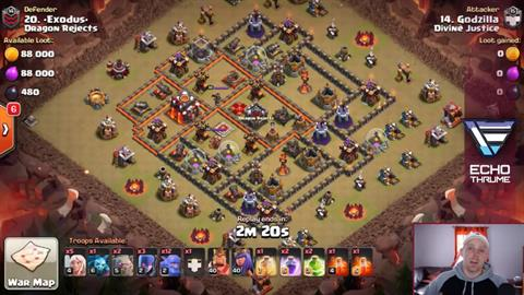 TH10 vs TH10 Queen Walk BoWitch (Bowlers + Witches) 3 Star
