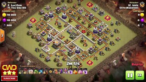 TH11 vs TH11 Queen Walk LaLoon 3 Star