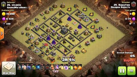TH9 vs TH9 Armored Ruckus 3 Star