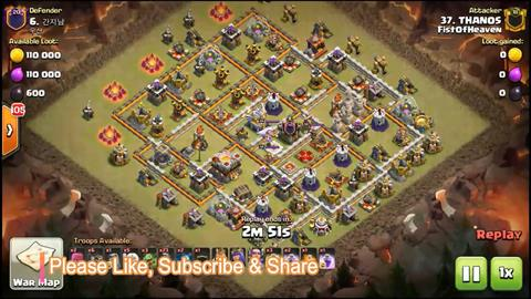 TH11 vs TH11 Queen Walk Miners 3 Star