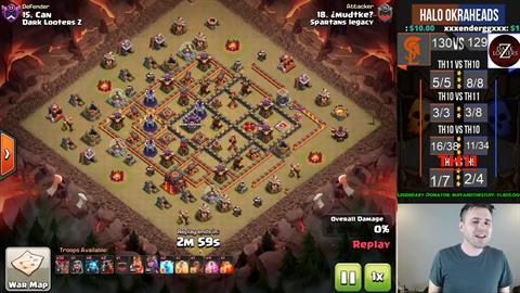 TH10 vs TH10 LaLoon 3 Star