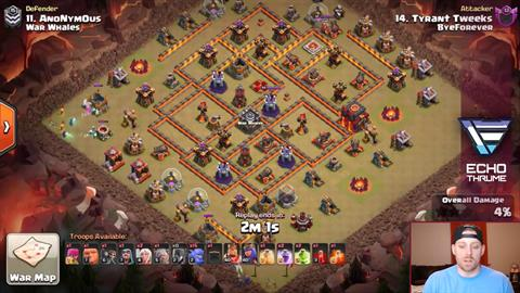 TH10 vs TH10 BoWitch (Bowlers + Witches) 3 Star