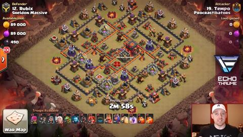 TH9 vs TH10 Queen Walk Valkyrie 3 Star