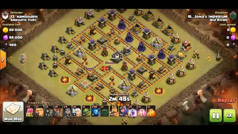 TH10 vs TH10 Queen Walk LaLoon 3 Star