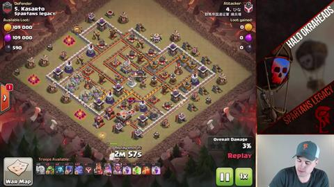 TH11 vs TH11 Queen Walk BoWitch (Bowlers + Witches) 2 Star