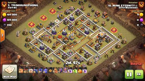 TH11 vs TH11 Queen Walk BoWitch (Bowlers + Witches) 3 Star