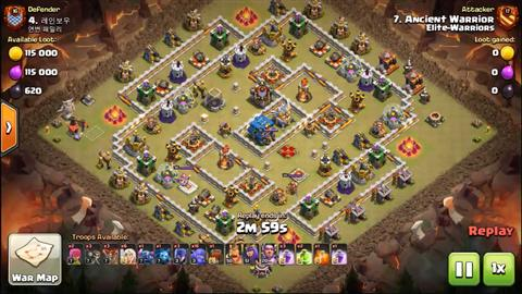 TH12 vs TH12 Queen Walk BoWitch (Bowlers + Witches) 3 Star