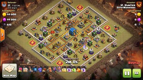 TH12 vs TH12 Queen Walk Bo+Ner (Miners + Bowlers) 3 Star