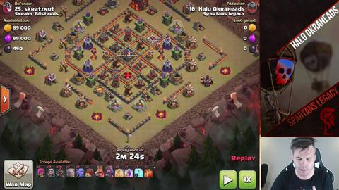 TH10 vs TH10 Go Ram 3 Star
