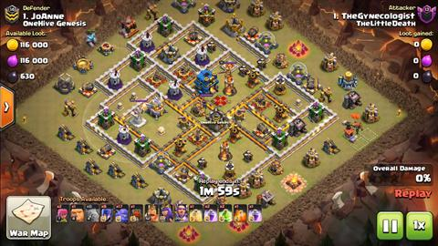 TH12 vs TH12 BoWitch (Bowlers + Witches) 3 Star
