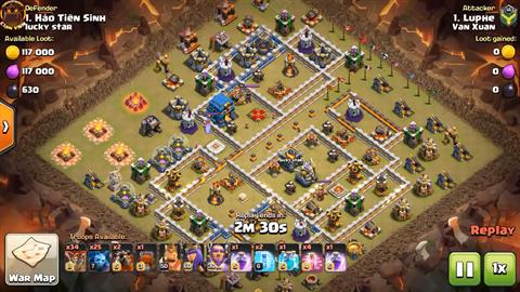 TH12 vs TH12 LaLoon 3 Star