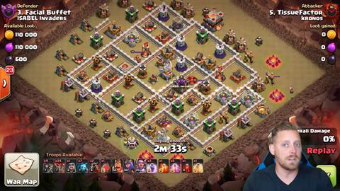 TH11 vs TH11 LaLoon 3 Star